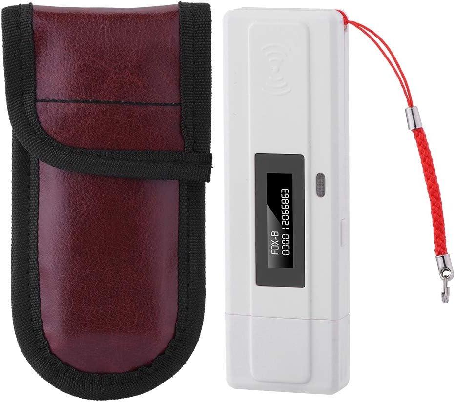 Tangxi Animal Chip RFID Reader, USB Lector de ID de Recarga con Bolsa Mini Microchip Pet RFID Scanner con Pantalla OLED Soporte FDX-B (ISO11784 / 85) y EMID