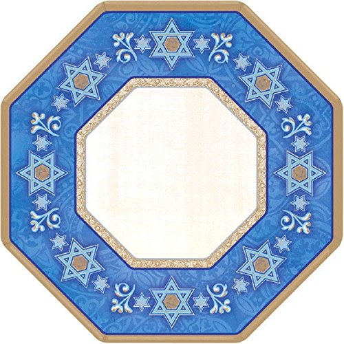 Amscan Deferential Octagonal Plates Jewish Celebrations Party Supplies, 7