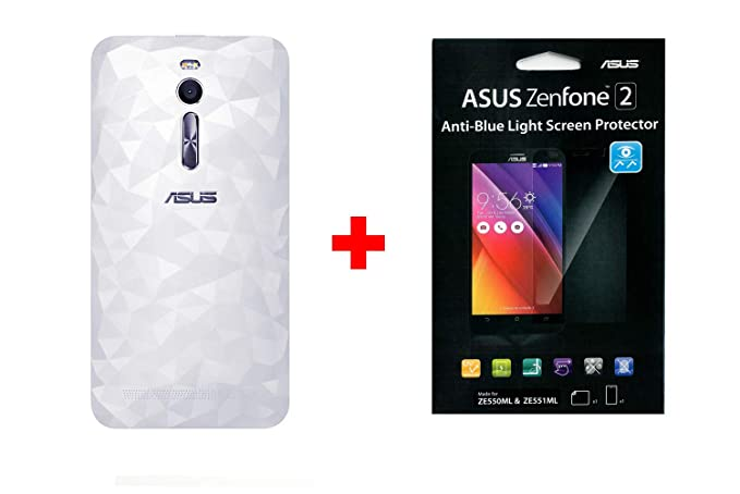 best sneakers 6addc 2ac6c ASUS Zenfone 2 Zen Case Battery Back Cover Door in Retail Packaging  (Replacement Case for ZE551ML) (Illusion-White)