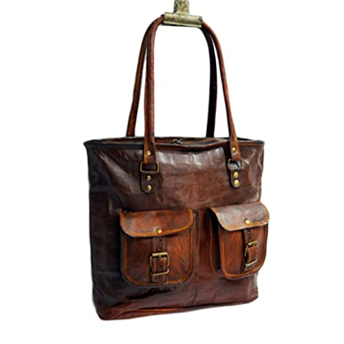 bajo precio d5924 30652 Mad Over Shopping, Bolso de cuero genuino bolso de mano artesanal de  compras de hombro bolsa de hombro
