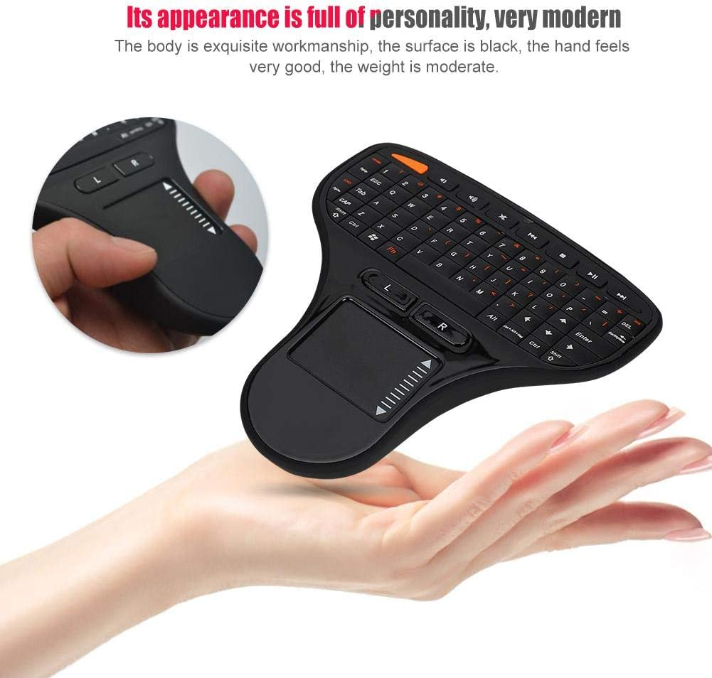ASHATA 2.4G Wireless Mouse Keyboard 2 in 1,Mini Touch Control Intelligent Air Mouse Multimedia,Sensitive and Accurate,Plug and Play