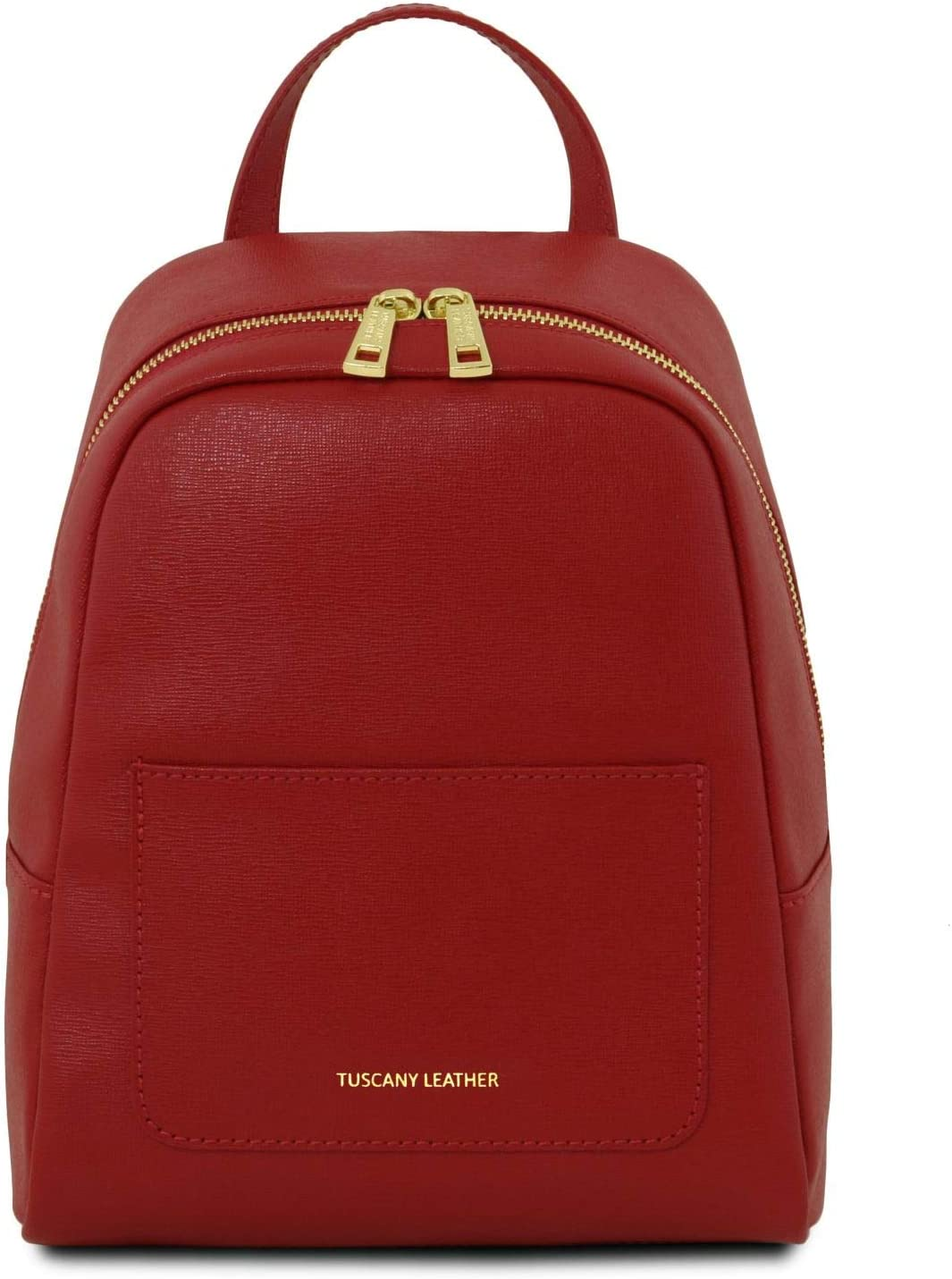 Red TL141701 Tuscany Leather TL Bag Small Saffiano leather backpack for woman