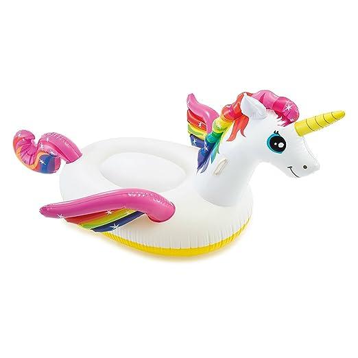 Unicornio Flotador hinchable para piscina, 2,01 m x 1,40 m x ...