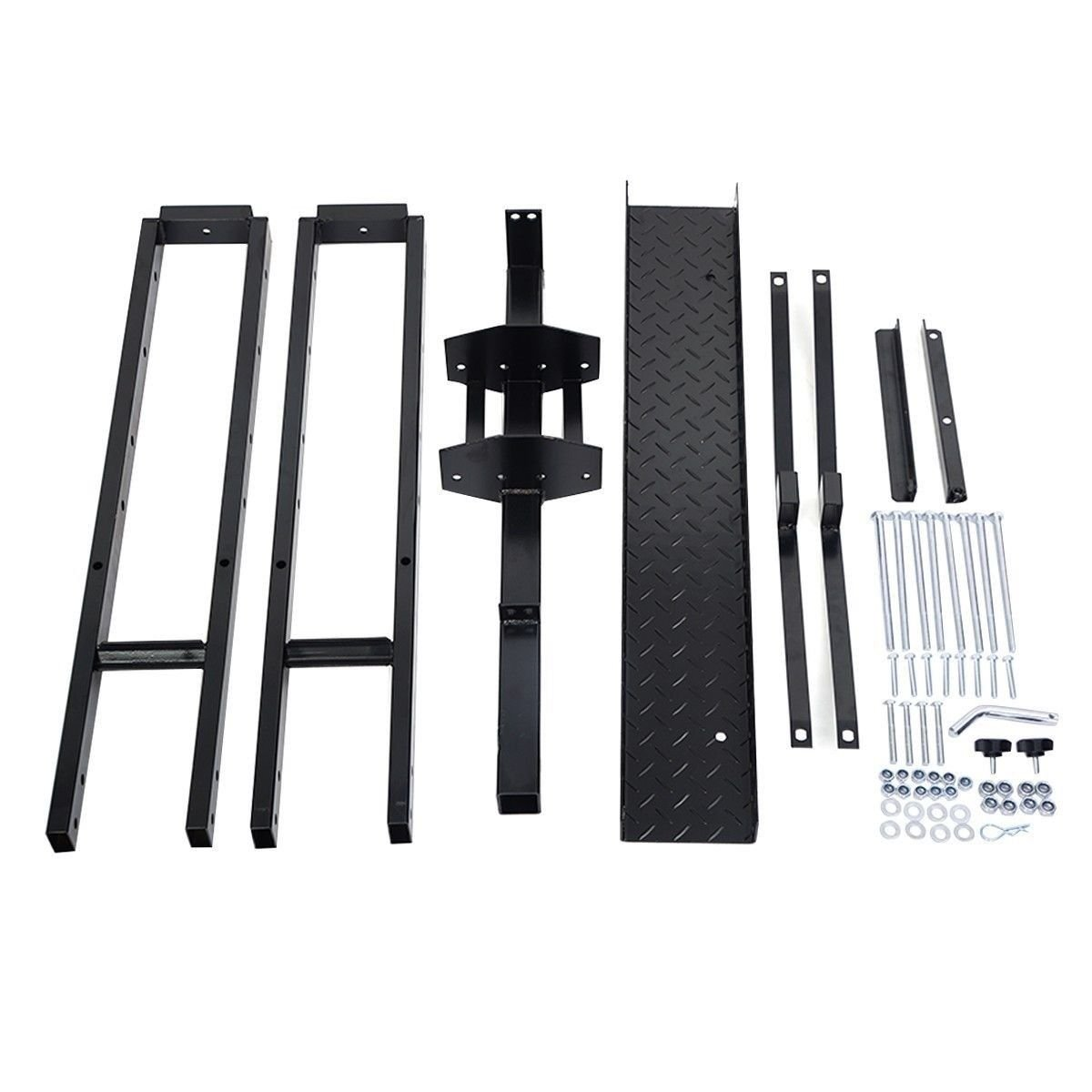 Steel Motorcycle Scooter DirtBike Carrier Hauler Hitch Mount Rack Ramp Anti Tilt by wang tong shop