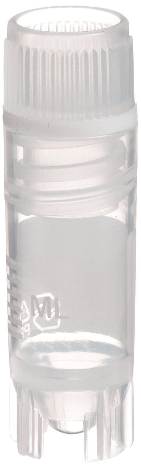 Simport T311-1 Clear Polypropylene 1.2mL Self Standing Cryovial with Internal Thread and Silicone O-Ring (Case of 1000)