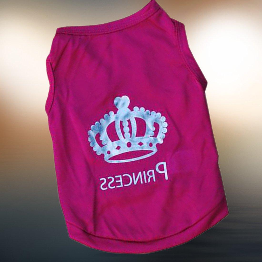 CY-buity verano ropa cachorro perro corona princesa camiseta de perro mascota ropa chaleco verano abrigo Disfraces Traje