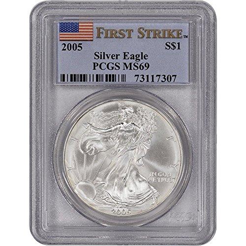 2005 S American Eagle First Strike Dollar PR69 PCGS