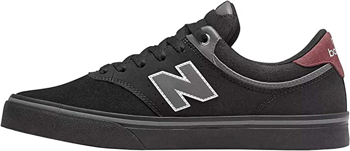 New Balance Numeric 255 Sneakers Skateschuhe Schwarz/Burgunderrot
