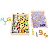 Bigjigs Toys lettres magnétiques en bois