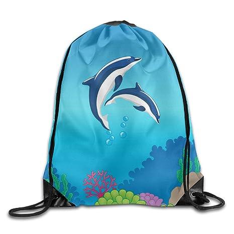 Kathleen delfín 3d impresión Cool cara sonriente emoticono suave Casual mochila escolar libro bolsas mochila cordón