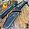 "8.25"" SPRING ASSISTED OPEN Tactical Blade Folding POCKET KNIFE Wood Steampunk G + Free eBook by SURVIVAL STEEL 1"