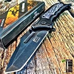 """8.25"""" SPRING ASSISTED OPEN Tactical Blade Folding POCKET KNIFE Wood Steampunk G + Free eBook by SURVIVAL STEEL 6"""