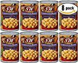 S&W Organic Garbanzo Beans, 15.5 oz Can (Pack of 8, Total of 124 Oz)