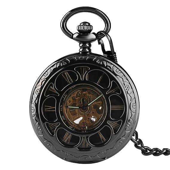 c49b1f91f Amazon.com: Pocket Watch, Vintage Hollow Quartz Pocket Watch ...