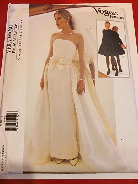 Amazon.com: Vogue 1583 Sewing Pattern, Misses\' Bridal Dress ...