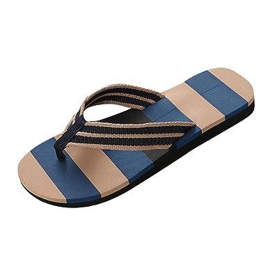 Sandales d'été pour hommes Pantoufles d'intérieur extérieures Flip-flops Chaussures de plage@Bleu ScqigS