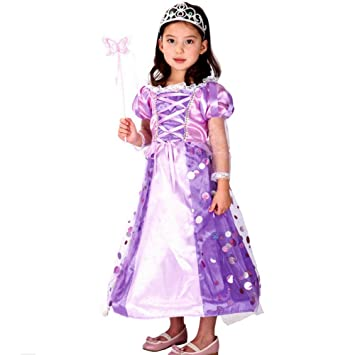 Moin Kostüm Kinder Mädchen Schneewittchen Kostüm Prinzessin Kleid ...