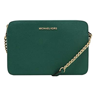 3781ee3dbd59e9 MICHAEL Michael Kors Women's Large East/West Cross Body Bag (Emerald):  Handbags: Amazon.com