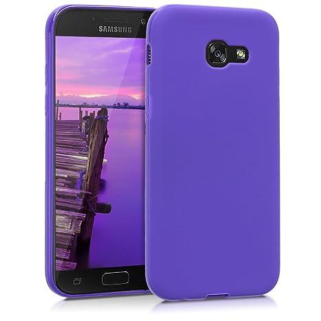 kwmobile Funda para Samsung Galaxy A5 (2017) - Carcasa para móvil en [TPU Silicona] - Protector [Trasero] en [Violeta Mate]