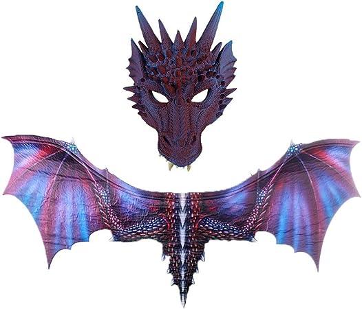 Halloween Masquerade Wing Tail Dragon Cosplay Decor Carnival Dinosaurio kid gift