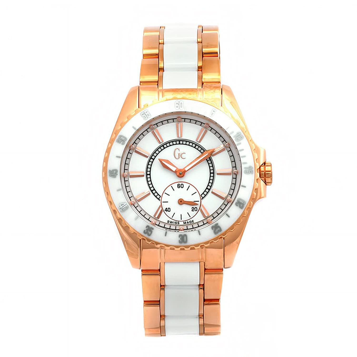 Amazon.com: GUESS Womens 47003L1 GC Two-Tone Quartz White Dial Watch: Gc: Watches