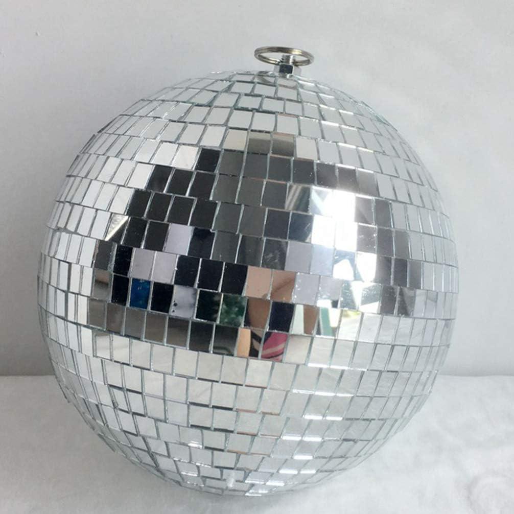 STOBOK Christmas Mirror Disco Ball Decoration Xmas Tree Hanging Surface Ball Pendant Holiday Music Festivals Decoration-10cm