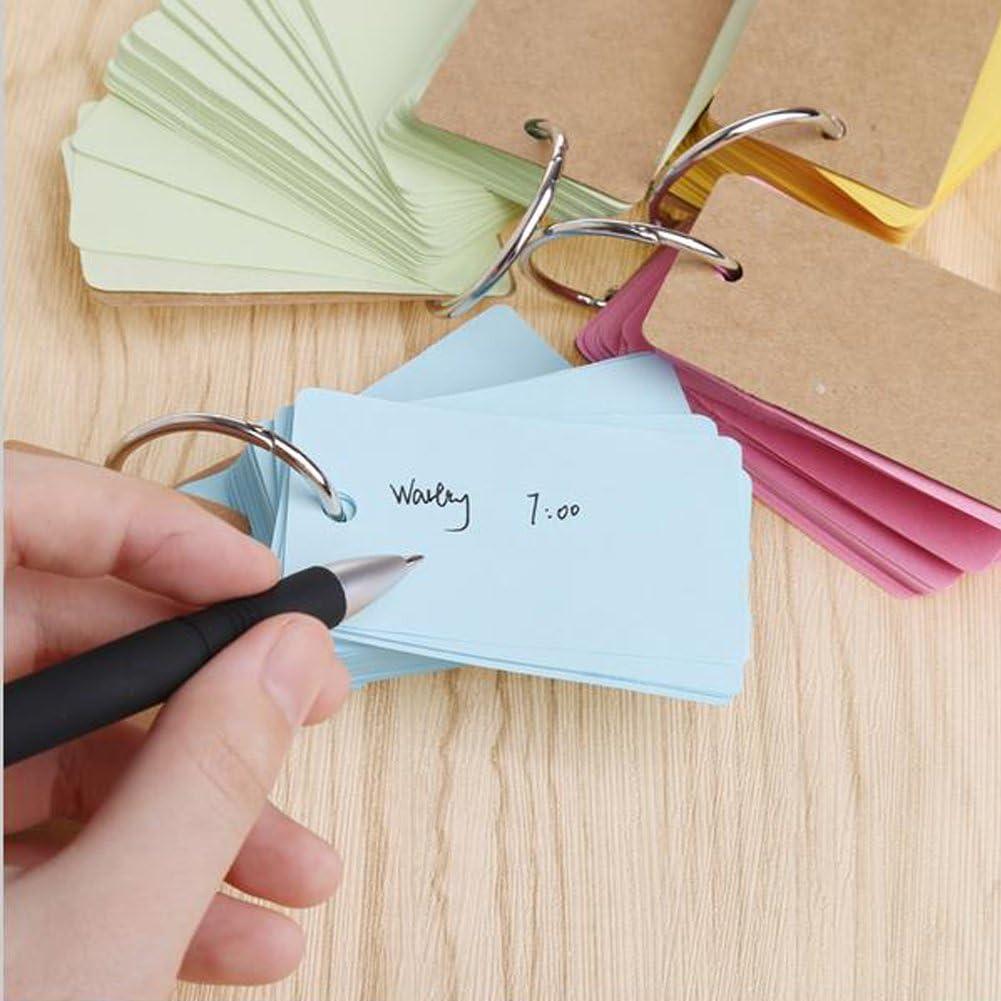 blocchetto di carta kraft ad anelli Yigo con apertura rapida e facile White