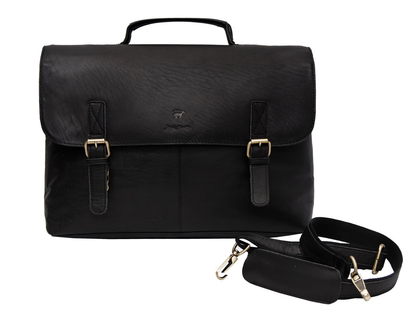 DH weta Leather Unisex Real Leather Messenger Bag for Laptop Briefcase Satchel ...