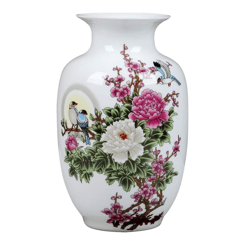MAHONGQING 花瓶セラミック小さな花瓶フラワーアレンジメント景徳鎮中国の家の居間の装飾の装飾品ドライフラワーテレビのキャビネット工芸品(と) B07S1SM4QH
