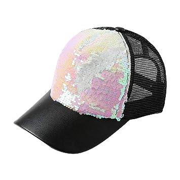 Hosaire 1x Lentejuelas Malla Transpirable Gorra Unisex Sombrero de Sol,para Casuales Sombreros Hip Hop Gorras de béisbol: Amazon.es: Hogar