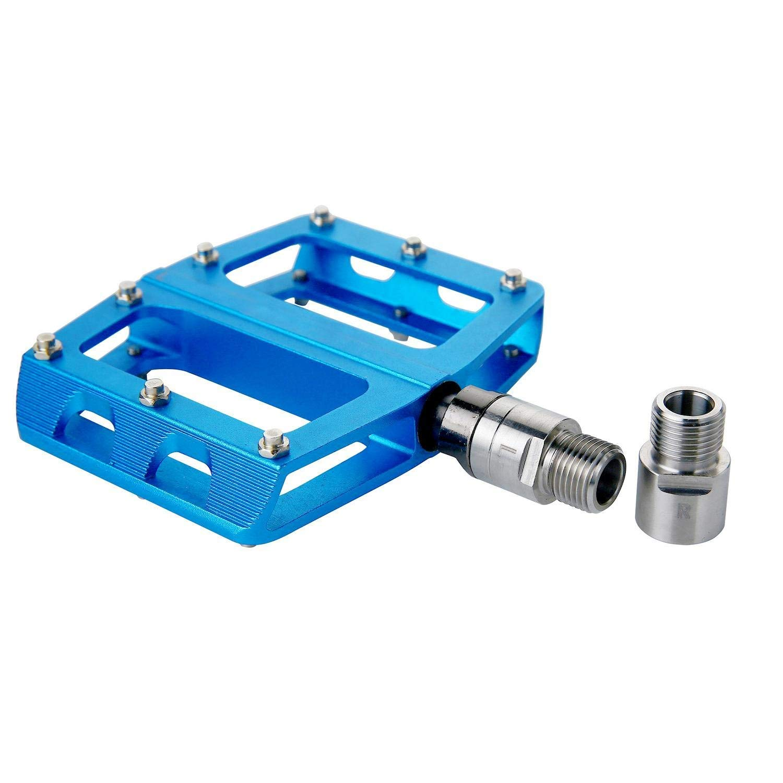 1 paire KOBWA P/édale de v/élo Extender Bicicleta Pedal Extenders Chrome Molybd/ène acier P/édale de v/élo Extender Kit Adaptateur pour p/édales 9//16 filetage en pouces
