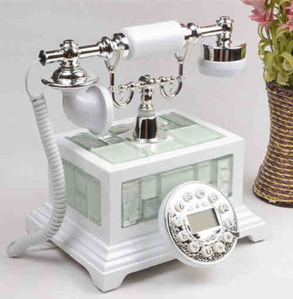 LCM Wired Telephone Ceramic High - End Office Telephone Home Desktop Retro Set (Resin, 2522CM) by LCM