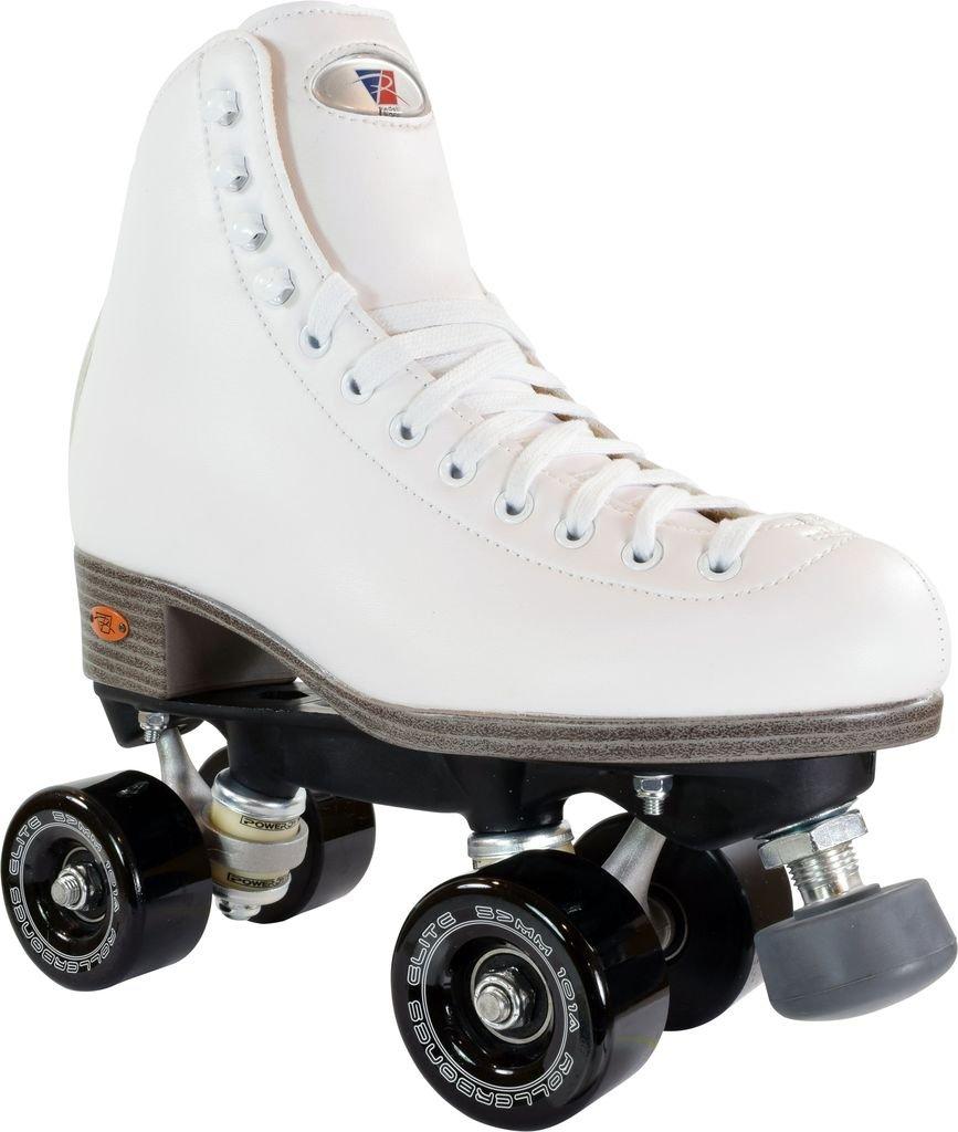 Riedell 111 Team Series Roller Skates Black Wheels Women White Size 7