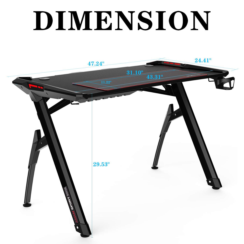 AuAg escritorio de 47 pulgadas estilo gaming para computadora en ...