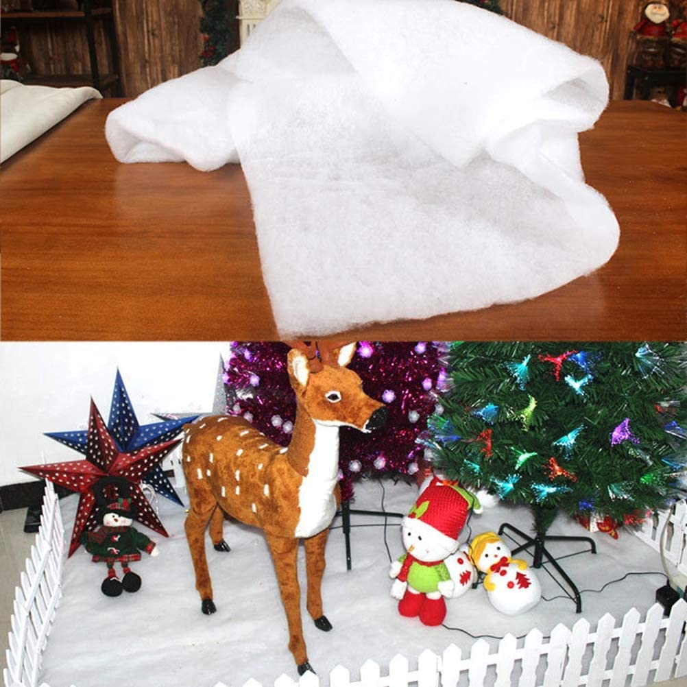 1M couvertures de Neige Artificielle Couverture de Coton pour Jupes darbre de no/ël d/écorations de Fond Diantai Couverture de Neige de no/ël 1.5