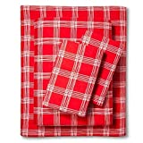 Ripe Red Holiday Twin Flannel Sheet Set (3-Piece)