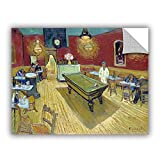 magnificent artistic wall art ArtWall Vincent Vangogh's The Night Cafe in The Place Lamartine in Aries Art Appealz Removable Graphic Wall Art, 24 by 32-Inch