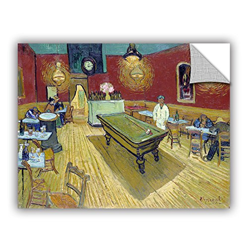 ArtWall Vincent Vangogh's The Night Cafe in The Place Lamartine in Aries Art Appealz Removable Graphic Wall Art, 24 by 32-Inch