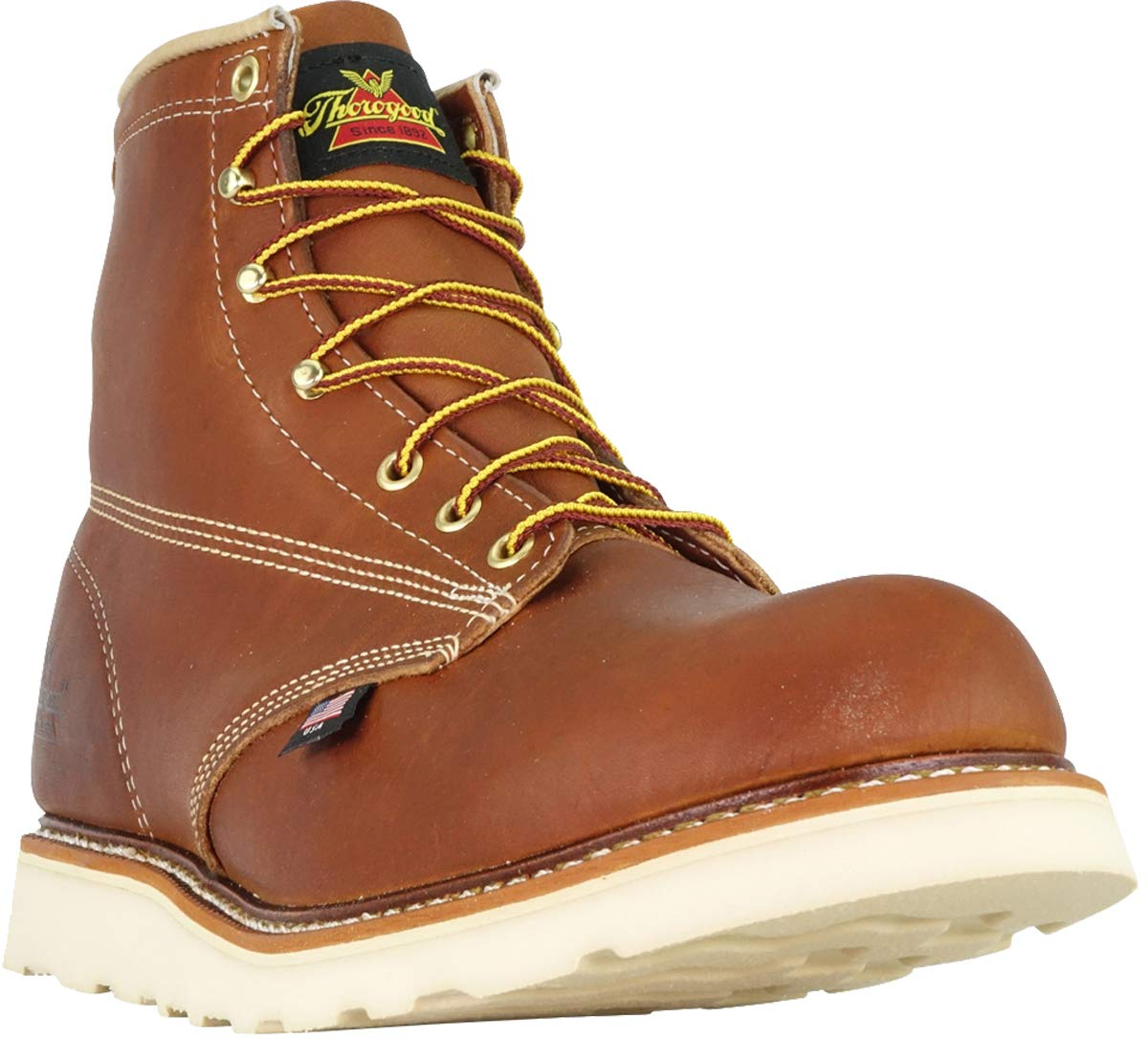 Thorogood 814-4355 Men's American Heritage 6'' Round Toe, MAXWear Wedge Non-Safety Toe Boot, Tobacco Oil-Tanned - 6.5 2E US by Thorogood (Image #3)