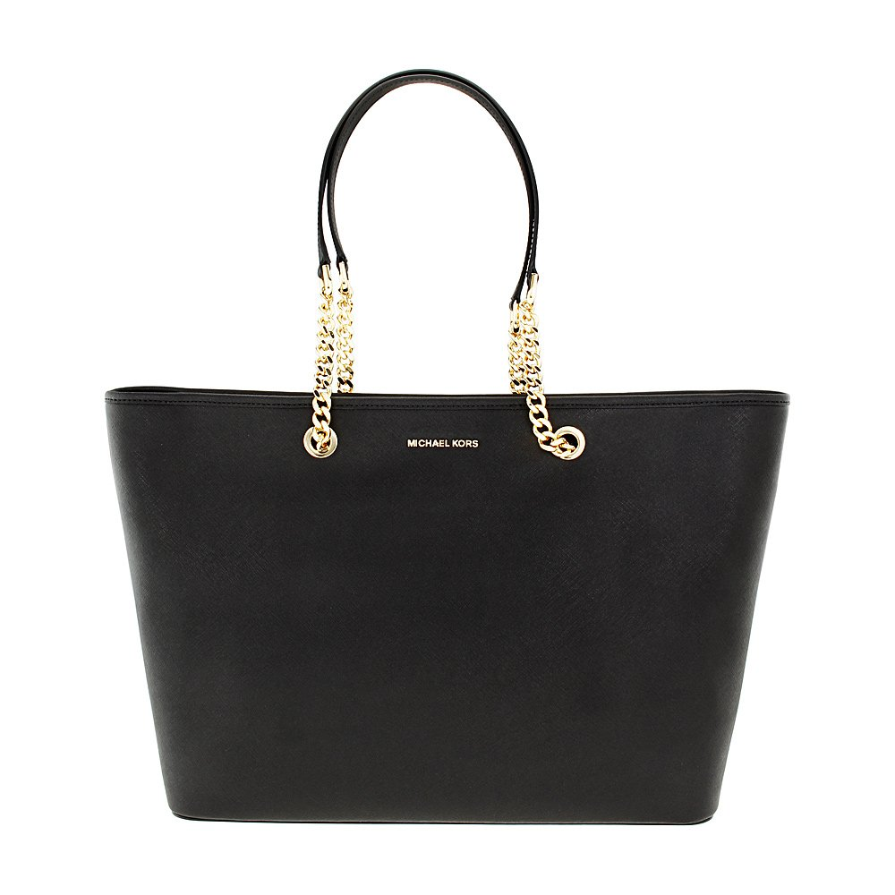 MICHAEL Michael Kors Women's Chain Travel Tote, Black, One Size