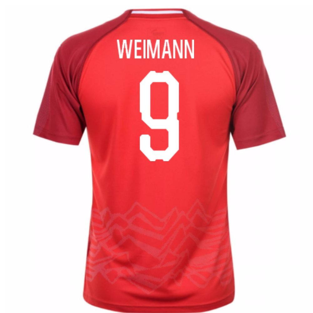 2018-19 Austria Home Football Soccer T-Shirt Trikot (Andreas Weimann 9)