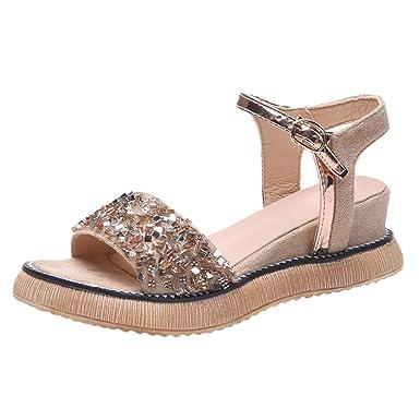bd3deacb4ec10 Amazon.com: Sunhusing Female Summer Wedge with Muffin Bottom Sandals ...