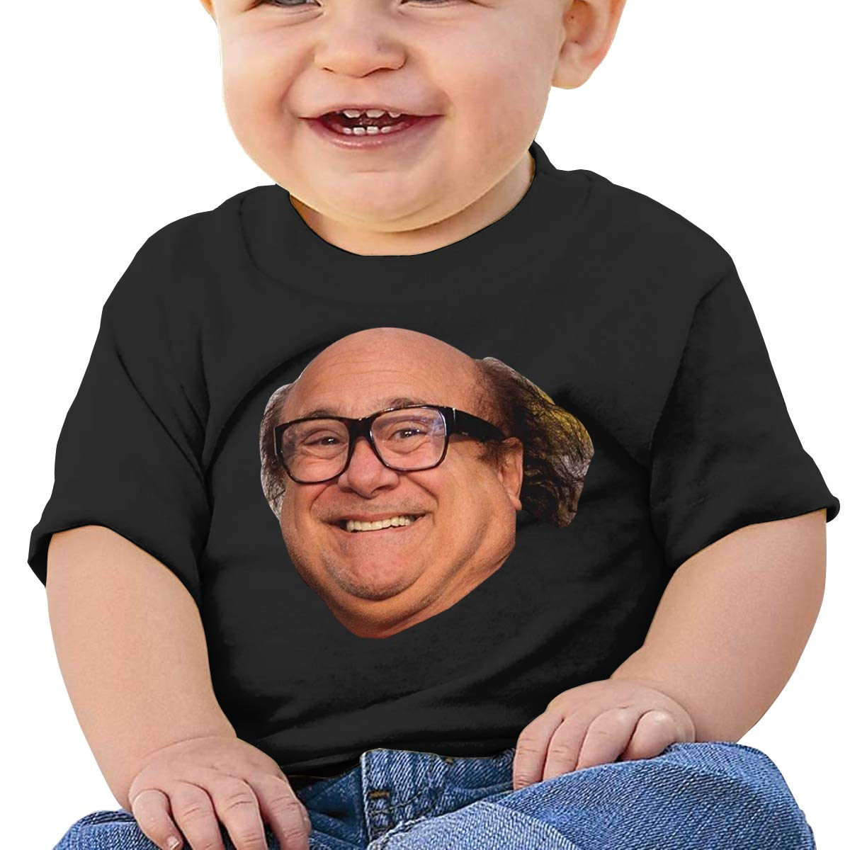 Baby Danny Devito Face Funny Always Sunny Shirt Childrens Cotton Tee