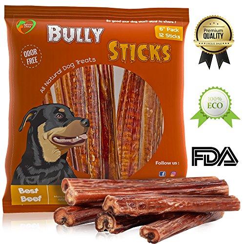 Bully sticks - Dog treats - Dog chews (12 pack) by Beloved pets
