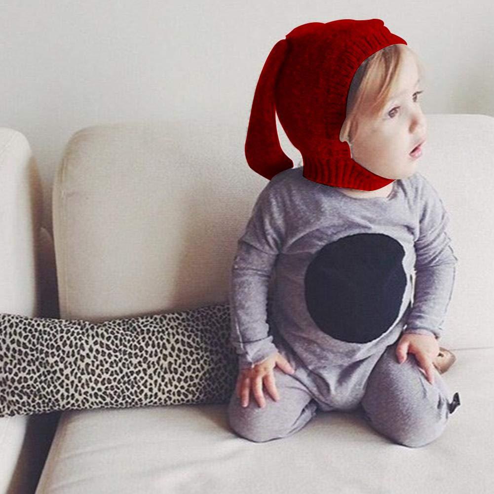 Orecchie di coniglio ins innovativo a forma di animale per bambini, cappello di lana a maglia cappello bambino autunno e inverno cappello rosso Red Dreameryoly