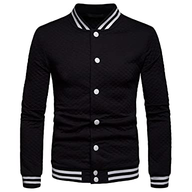 012e773229ae Image Unavailable. Image not available for. Color  Baseball Jacket 2019  Mens Fashion Spring Plaid Zipper Bomber ...