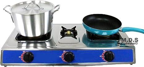 Estufa Triple Cabeza Quemador 28