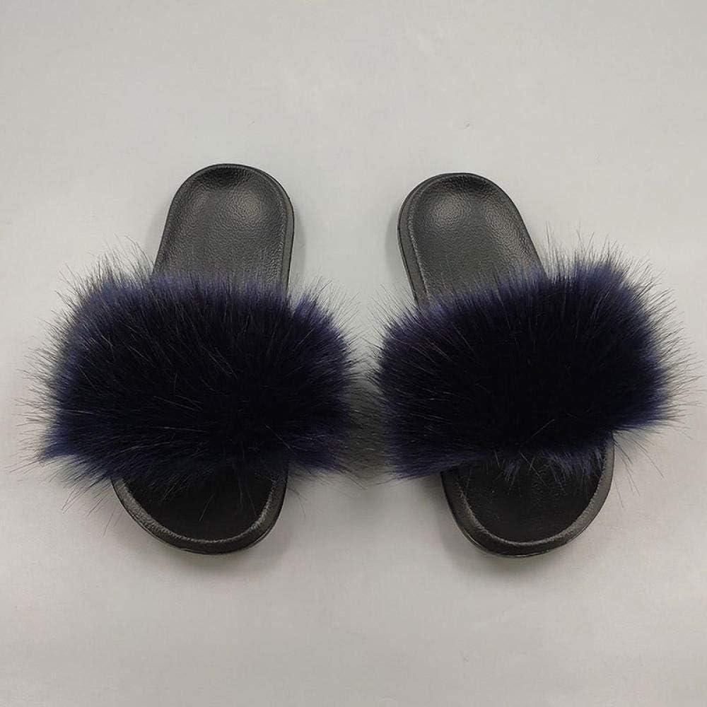 Chanclas Antideslizantes-Caf/é/_36-37 Zapatos de Felpa de Verano TAYIBO para el hogar Zapatillas de ba/ño para el hogar,Sandalias de Mujer