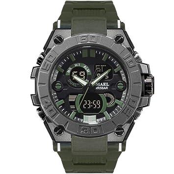 SMAEL Relojes Deportivos Relojes Impermeables para Hombres Relojes De Pulsera De Cuarzo Military LED Watch Shock 8003,C: Amazon.es: Deportes y aire libre