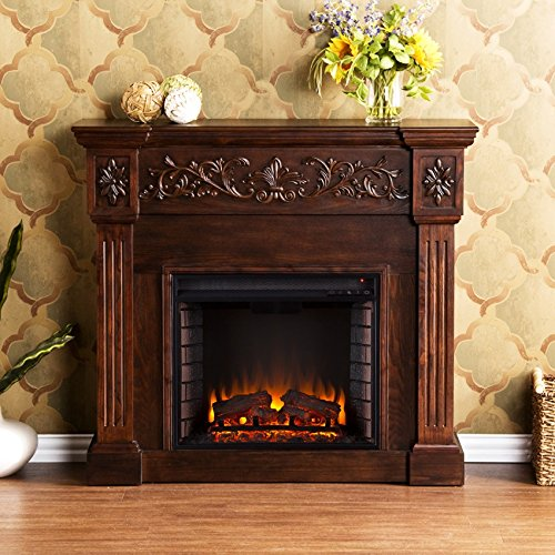 Ergode Calvert Carved Electric Fireplace - - Fireplace Electric Carved